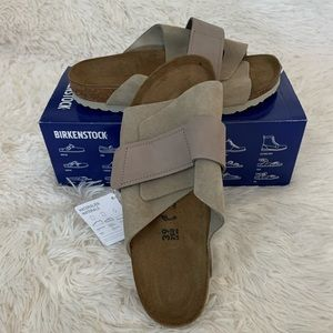 Birkenstock Kyoto Taupe Suede Sandals